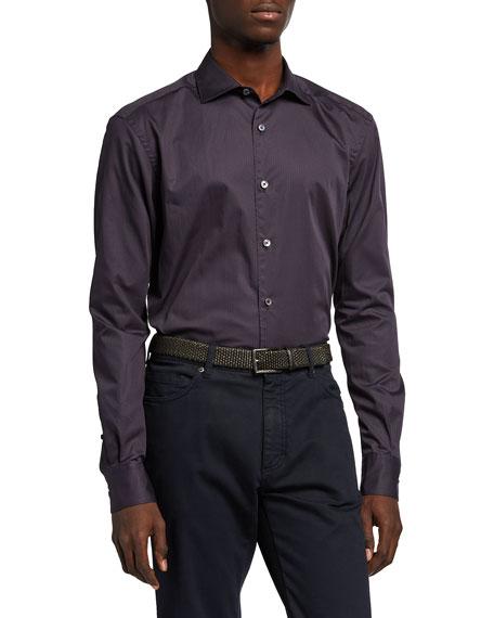 Ermenegildo Zegna Men's Micro-Pattern Sport Shirt