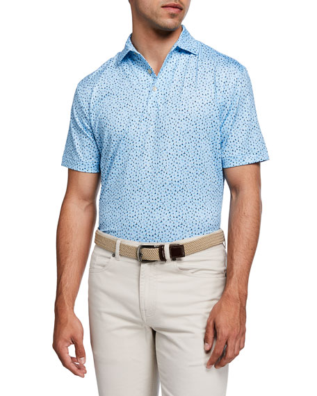 Peter Millar Men's Ridley Sailboat-Print Polo Shirt