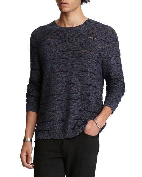 John Varvatos Men's Easy-Fit Melange Stripe Sweater