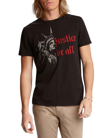 John Varvatos Star USA Men's Liberty Justice Graphic T-Shirt