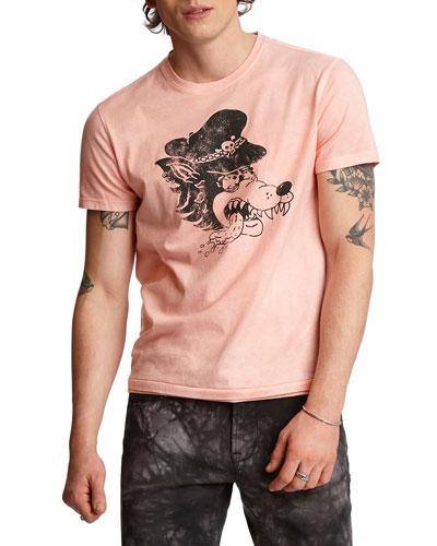 Men's Wolf Head Graphic T-Shirt