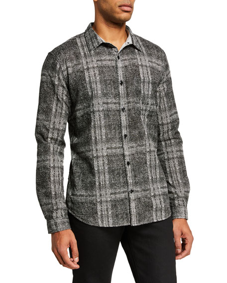 John Varvatos Star USA Men's Neil Regular-Fit Reversed Sport Shirt