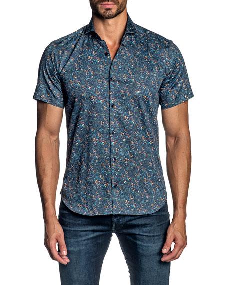 Jared Lang Men's Floral Sport Shirt