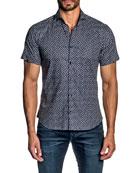 Jared Lang Men's Dice-Print Short-Sleeve Sport Shirt