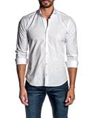 Jared Lang Men's Tonal Jacquard Sport Shirt