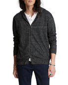 John Varvatos Men's Easy-Fit Zip-Front Hoodie Sweater