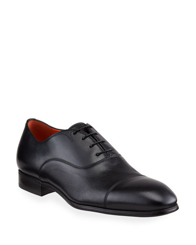Men's Salem Leather Lace-Up Loafers, Black