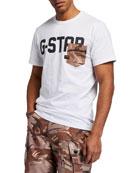 G-Star Men's GS Raw Logo Camo-Pocket T-Shirt