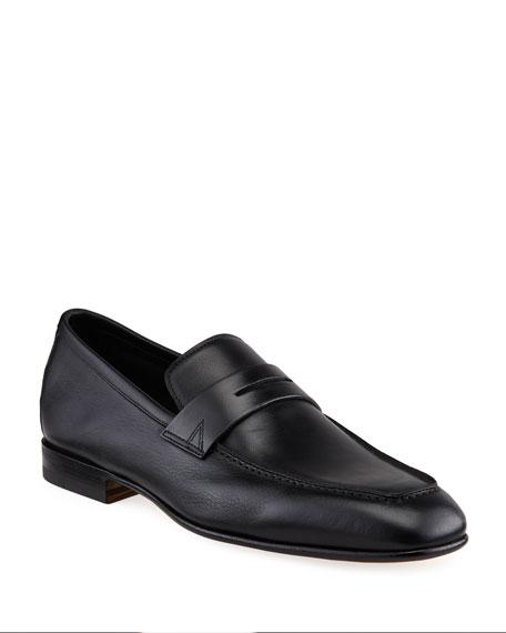 Santoni Men's Imam Soft Leather Penny Loafers