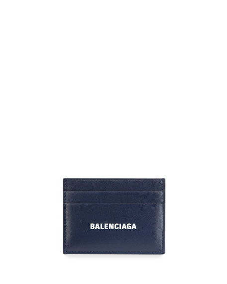 Balenciaga Men's Logo Leather Card Case