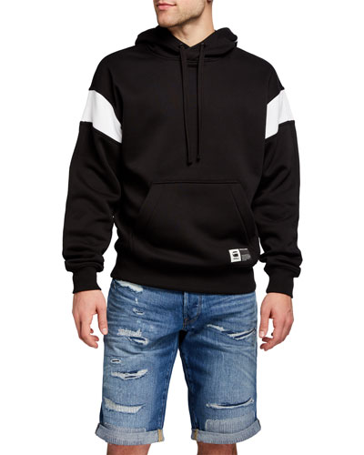 Men's Two-Tone Logo Pullover Hoodie