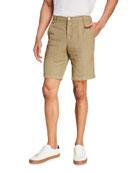 Massimo Alba Men's Chino Linen-Blend Shorts