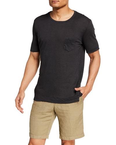 Men's Linen Pocket T-Shirt
