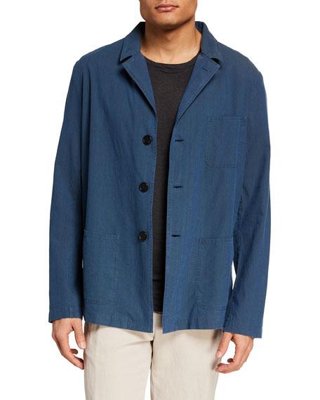 Massimo Alba Men's Camp Collar Cotton Shirt Jacket