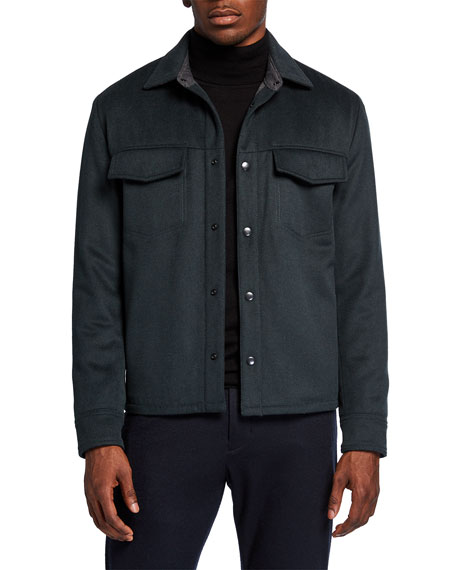 Vince Men's Wool-Blend Overshirt Jacket