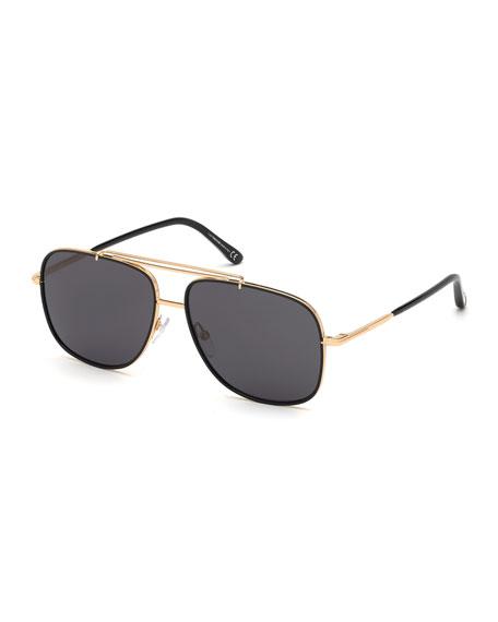 TOM FORD Men's Benton Yellow Golden Aviator Sunglasses