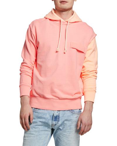 Men's S-Crazy Colorblock Pullover Hoodie
