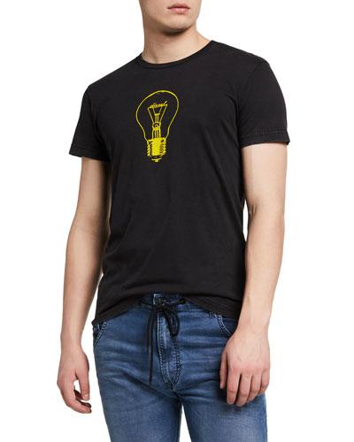 Men's Diego Light Bulb Graphic T-Shirt