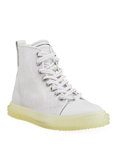 Men's Transparent Blabber High-Top Sneakers