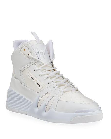 Giuseppe Zanotti Men's Talon Tonal Leather High-Top Sneakers