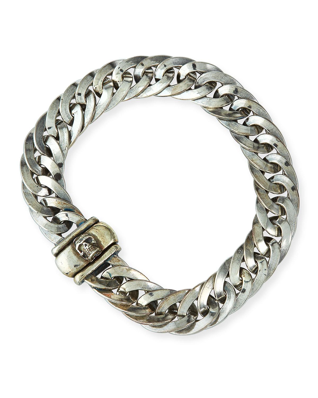 Men's Sterling Silver Flat Chain Bracelet