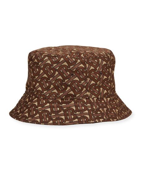 Burberry Men's TB-Print Nylon Bucket Hat
