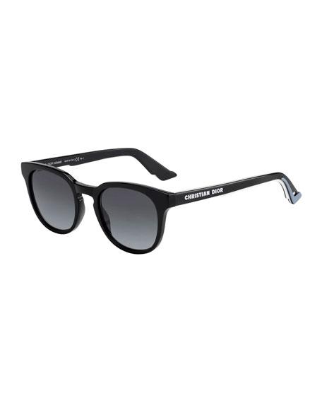 Dior Men's B24 Round Gradient Acetate Logo Sunglasses