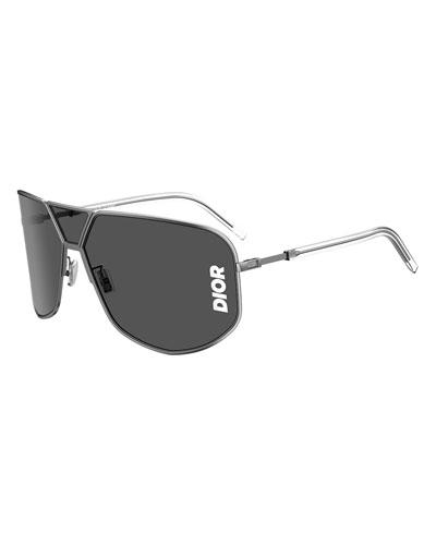 Men's Ultra Metal Shield Logo Sunglasses