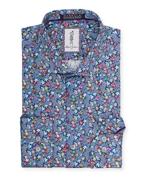 Robert Graham Men's Aguilar Floral-Print Sport Shirt