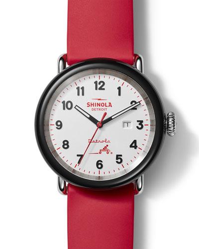 Men's Detrola Radio Flyer 43mm Silicone Watch