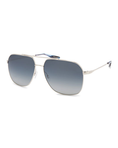 Men's Aeronaut Titanium Gradient Aviator Sunglasses