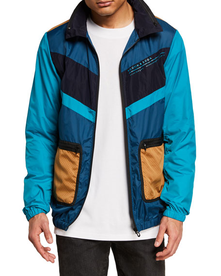 Scotch & Soda Men's Club Nomade Lightweight Colorblock Wind Jacket