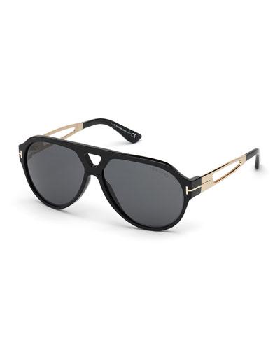Men's Paul Acetate/Metal Aviator Sunglasses