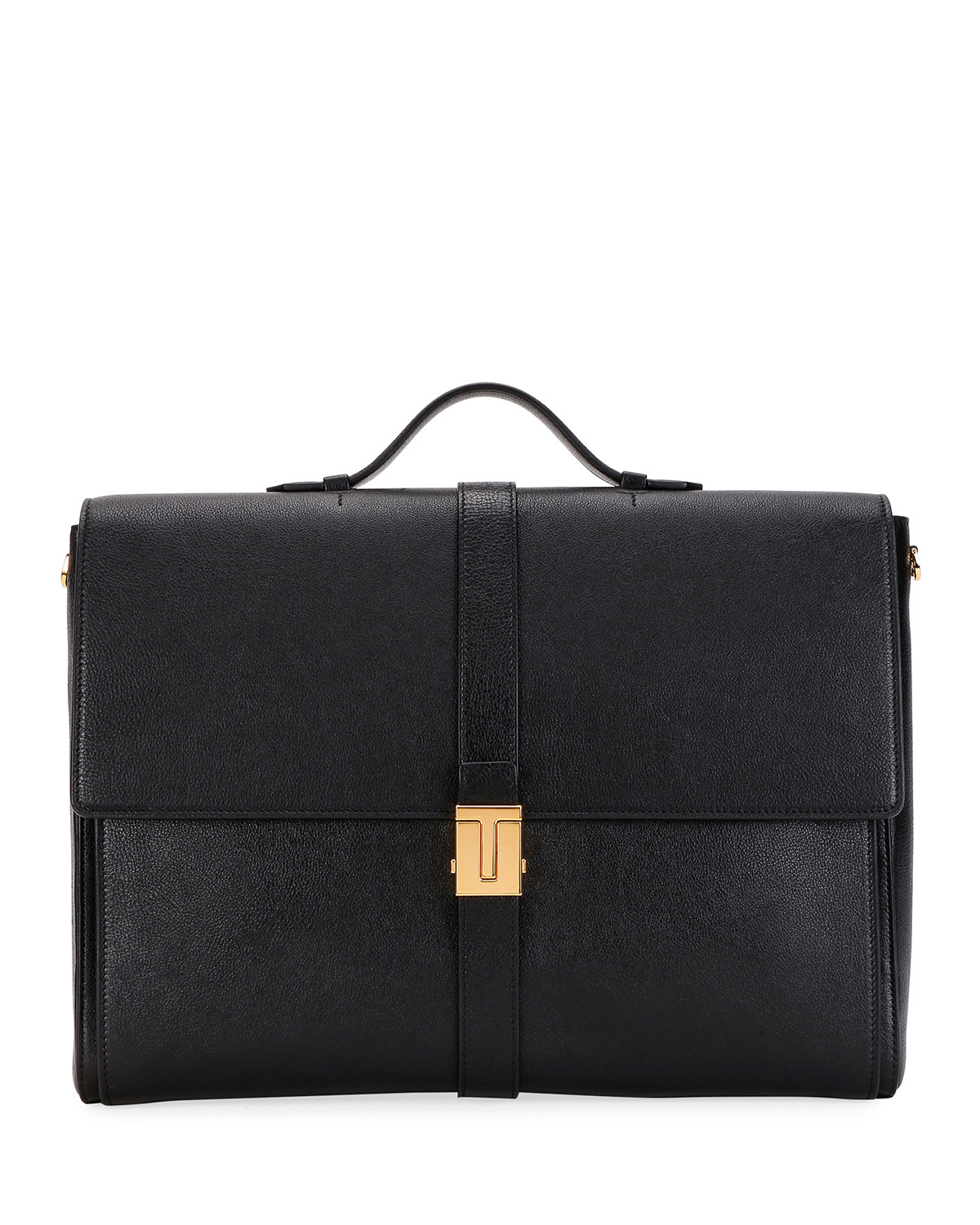 Tom Ford MEN'S T-CLIP LEATHER BRIEFCASE