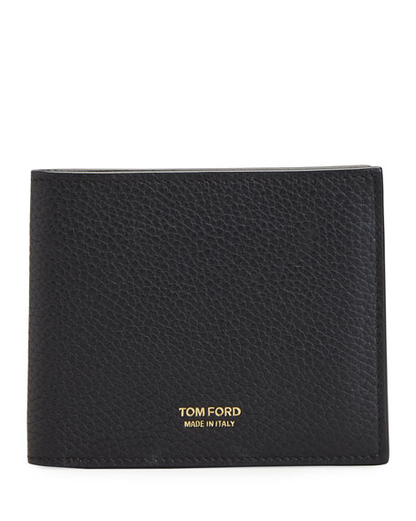TOM FORD Men's Grained Leather 8-Card Wallet