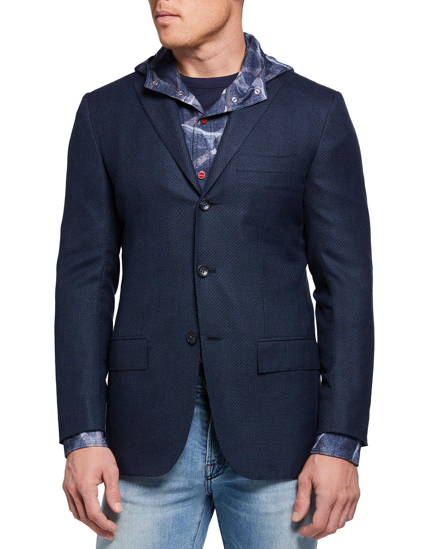 Men's Cashmere Stair-Weave Blazer