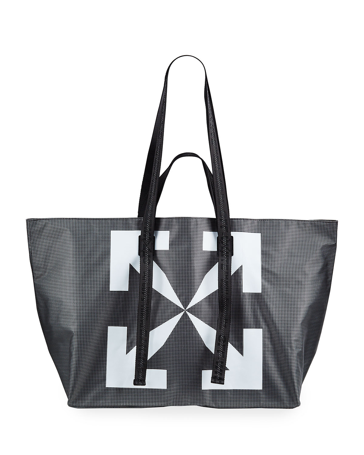 Off-White MEN'S ARROW PVC TOTE BAG