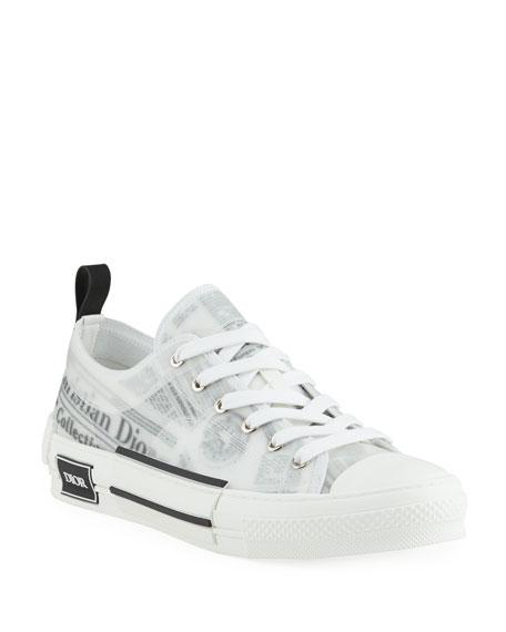 Dior Men's B23 Low-Top Sneakers with DIOR AND DANIEL ARSHAM Motif