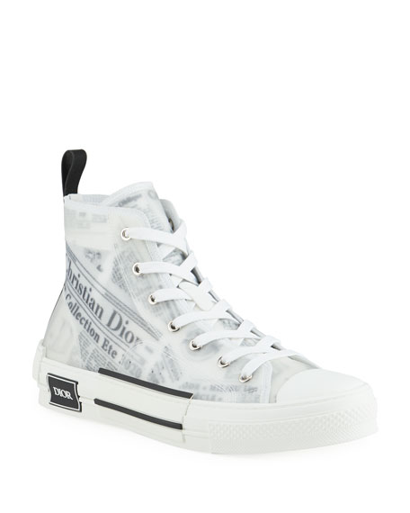 Dior Men's B23 High-Top Sneakers with DIOR AND DANIEL ARSHAM Motif