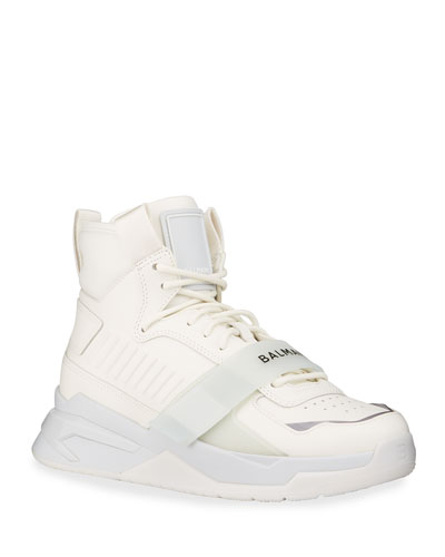 Men's B-Ball Tonal Leather High-Top Sneakers