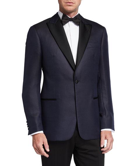 Emporio Armani Men's Box-Pattern Wool/Silk Dinner Jacket