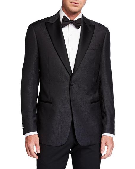 Emporio Armani Men's Tonal Wool Dinner Jacket