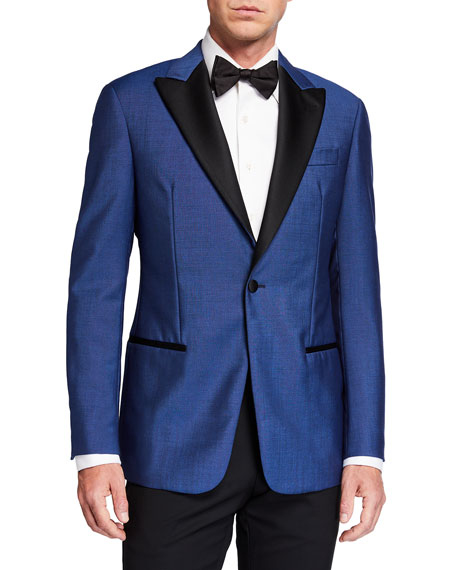 Emporio Armani Men's Peak-Lapel Wool-Mohair Dinner Jacket