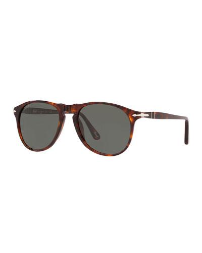 Men's Polarized Aviator Acetate Sunglasses