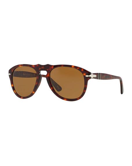 Persol Men's Polarized Aviator Acetate Sunglasses