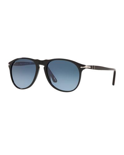Men's Gradient Aviator Acetate Sunglasses