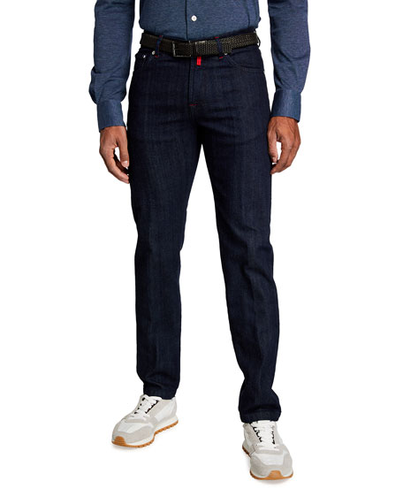 Kiton Men's Classic Dark-Wash Jeans