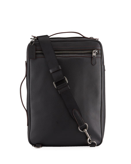Coach Men's Soft Pebbled Leather Convertible Backpack