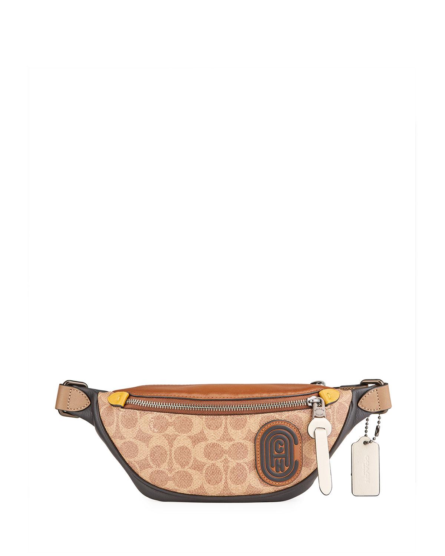 Men's Signature Canvas/Leather Belt Bag
