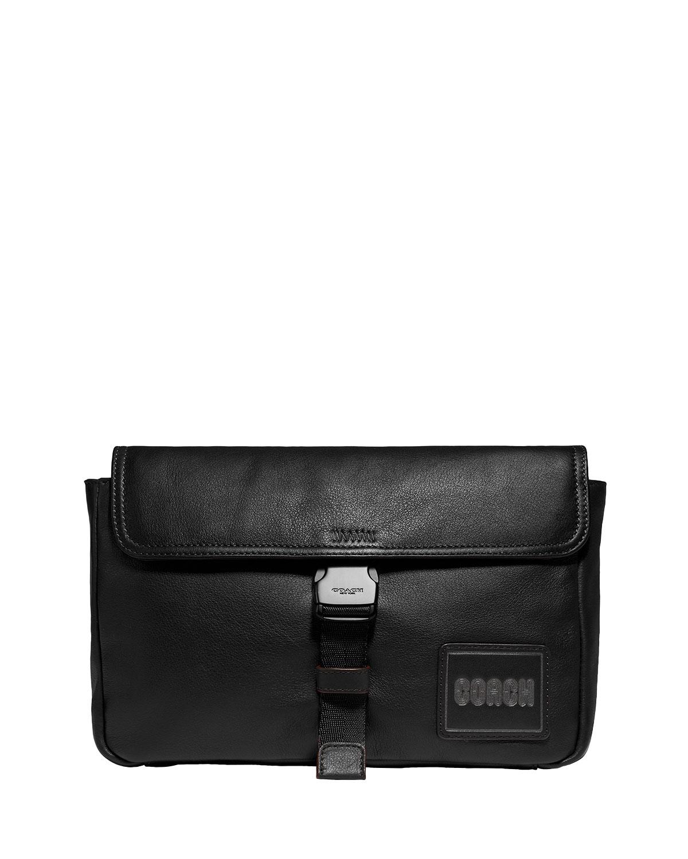 Men's Smooth Leather Belt Bag